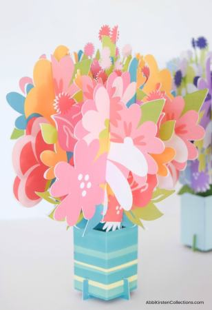 How to make pop up flower bouquet cards.