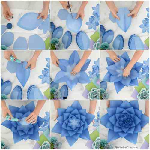 giant succulent collage tutorial