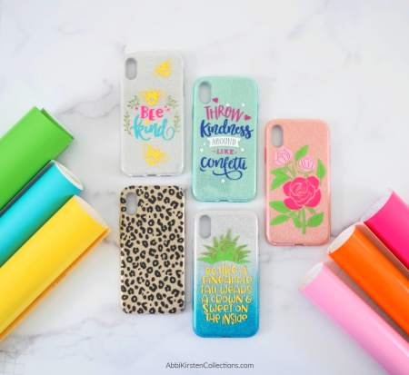 DIY iphone cases with Cricut.