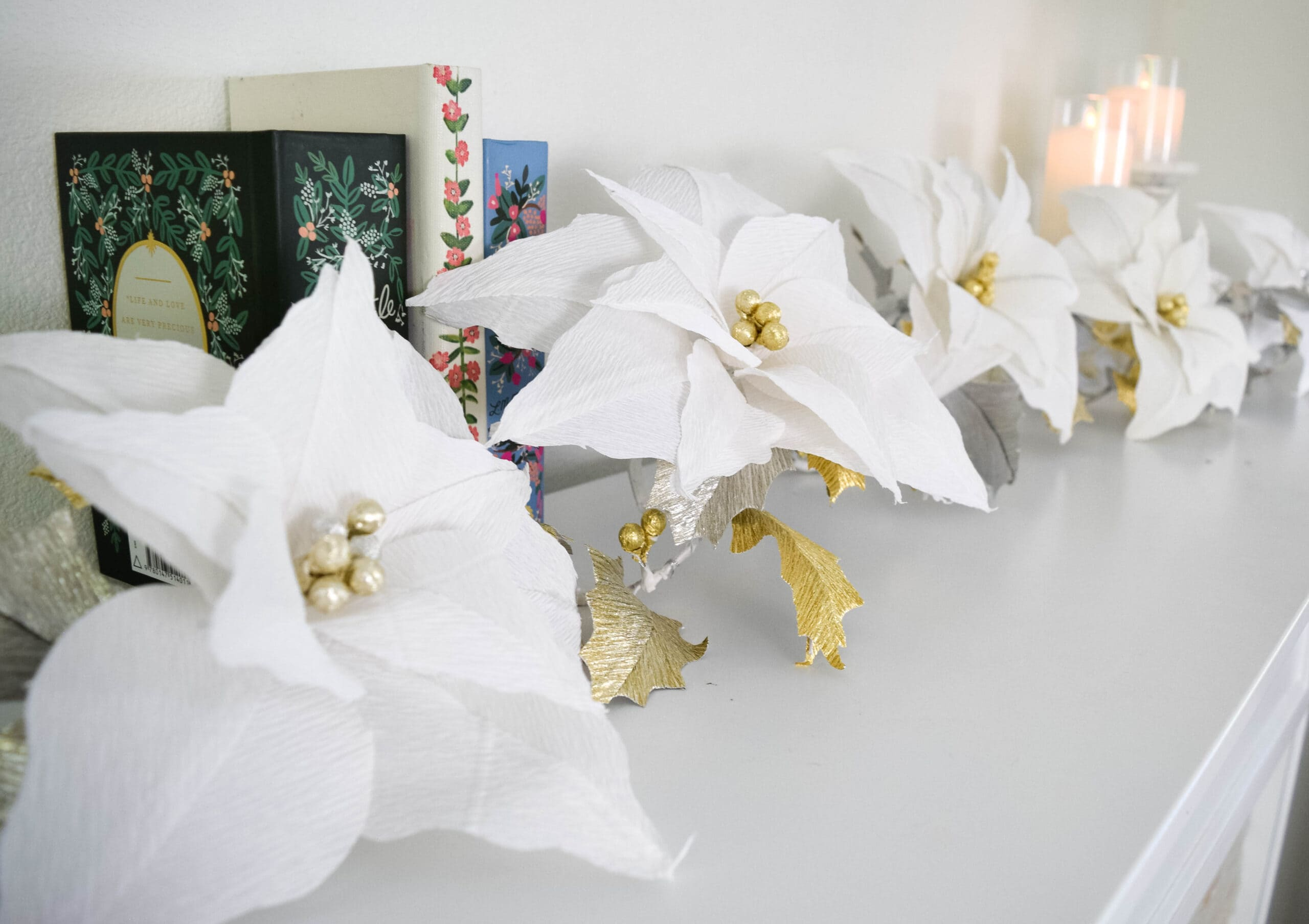 Holiday Maker-Fest – Paper Poinsettia and Holly Christmas Garland