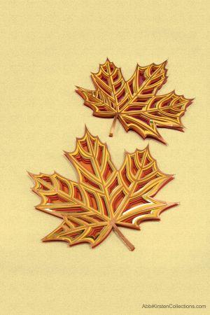 fall leaf 3D mandala svg