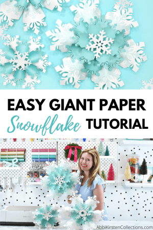 How to make paper snowflakes for christmas and frozen party decor