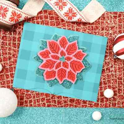 Christmas Poinsettia Flower Mandala Tutorial – Christmas Card Craft