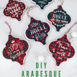 How to Make Tile Arabesque Christmas Ornaments with Cricut – Free Templates