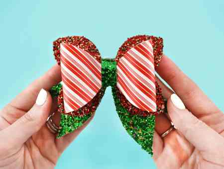 Christmas holiday hair bow tutorial and free templates