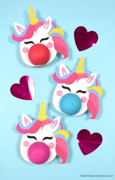 Free Eos Lip Balm Printables. Download your free unicorn, flower, and butterfly templates to dress up any eos lip balm for the perfect gift!