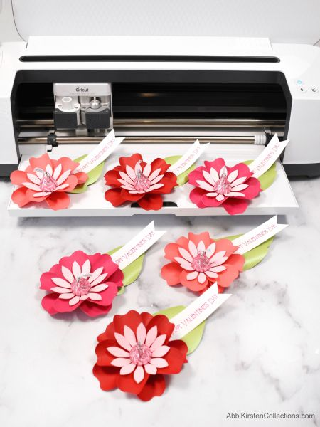 Paper flowers with cricut.