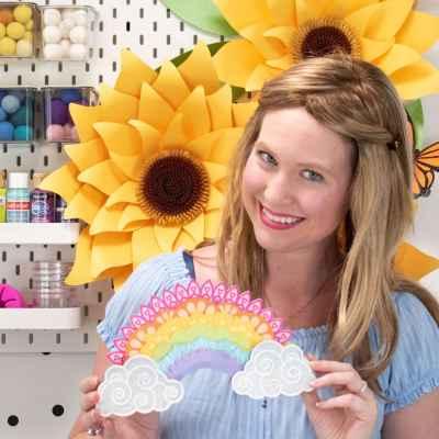 3D Rainbow Layered Mandala Paper Craft