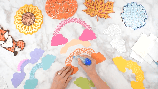 How to layer a paper mandala craft.