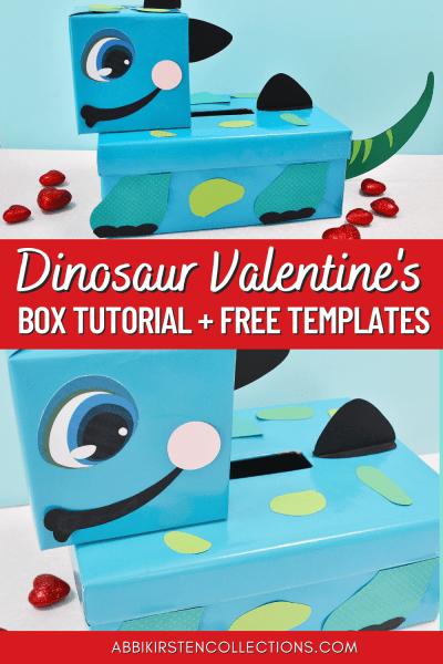 Dinosaur valentines box tutorial with free templates.
