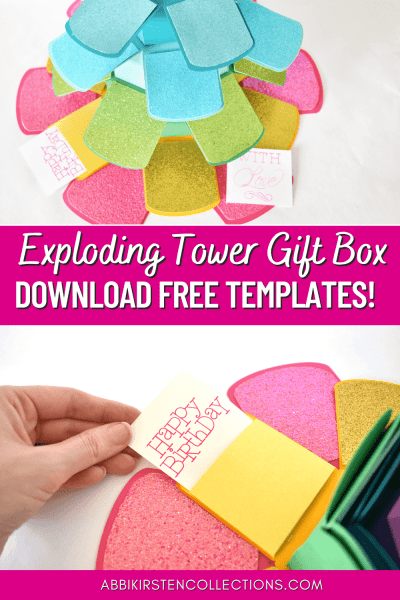 Exploding tower gift box
