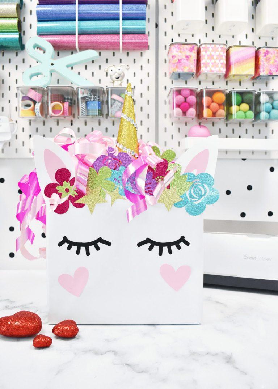 DIY Valentine's Day Box Ideas – Free Unicorn and Dinosaur Templates