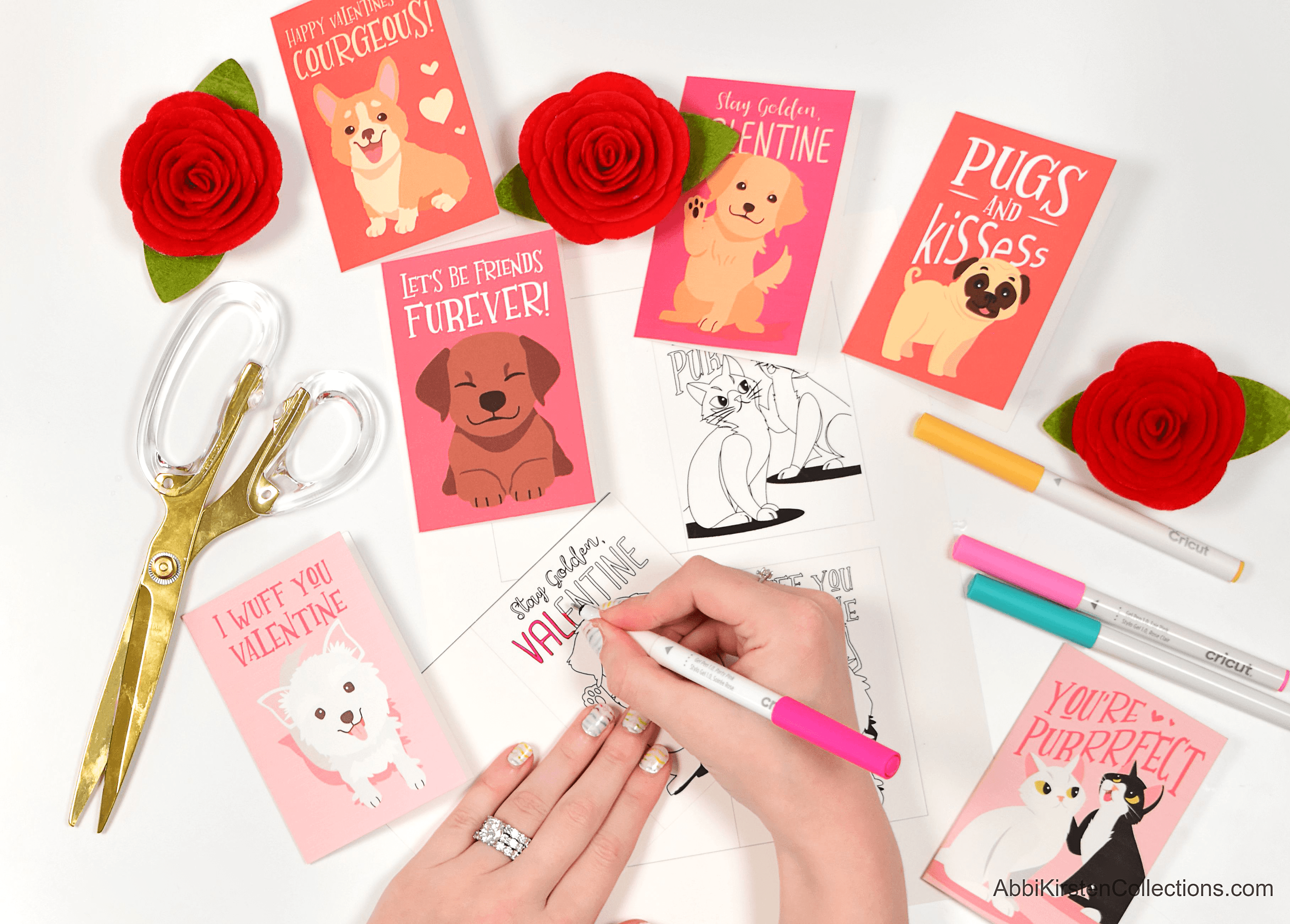 Free Valentine's Printables for Kids – Puppy Dog Coloring Cards