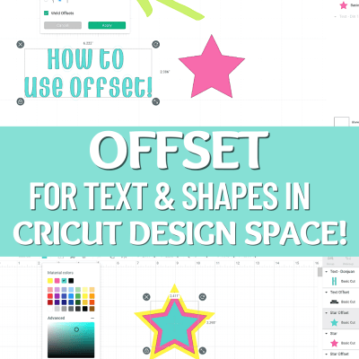 Offset text & shapes in Cricut Design Space