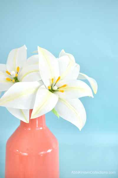 Easter paper lily flowers.