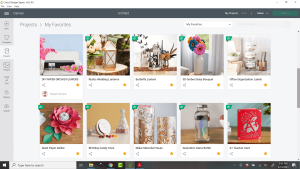 Different tutorials and projects to help beginner's learn how to use Cricut design space