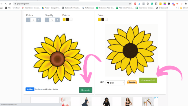 How to download an SVG file from PngtoSVG.com