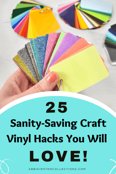 Learn all the tricks to using craft vinyl with your Cricut cutting machine! Make Cricut vinyl projects easier with these 25 hacks every cutting machine owner should know!