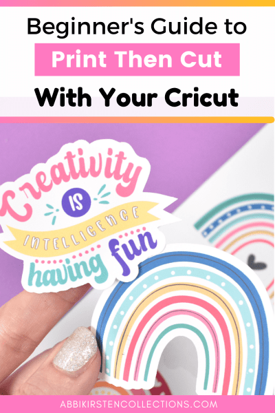 Beginners tutorial to print then cut with your Cricut machine.