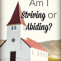 Am I Striving or Abiding?