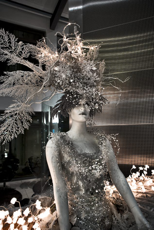 Detail Of A Five Meter Tall Ice Queen Mannequin Styled
