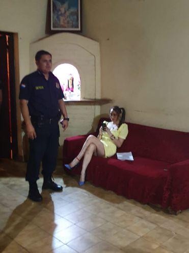 La mujer fue detenida en un control de rutina de la Policía.
