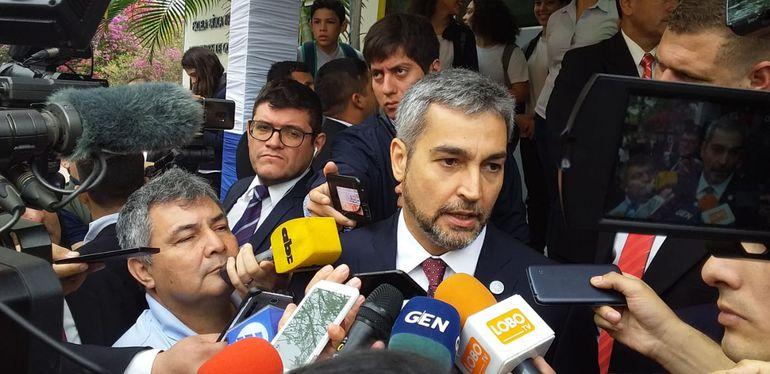 Presidente de la República, Mario Abdo Benítez.