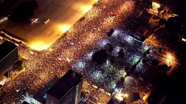 Más de 300.000 «indignados» inundan las calles de Israel