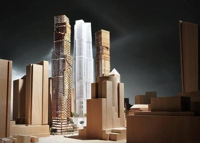 ABC - Maqueta del proyecto de Frank Gehry para la zona de ocio de Toronto, Canadá