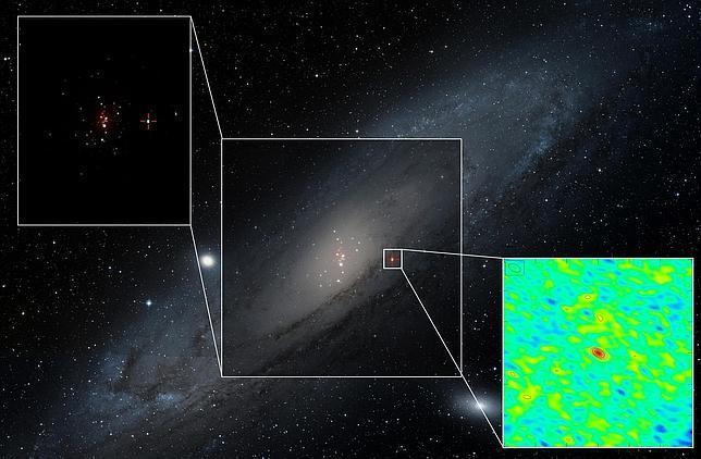 Hallan un agujero negro que devora una estrella en Andrómeda