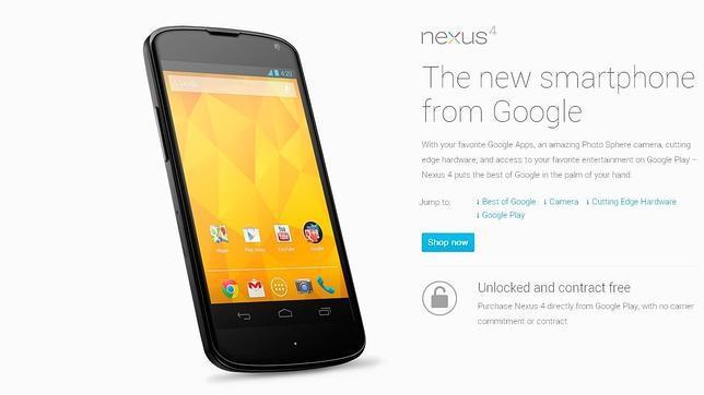 El Nexus 4 se agota en siete minutos