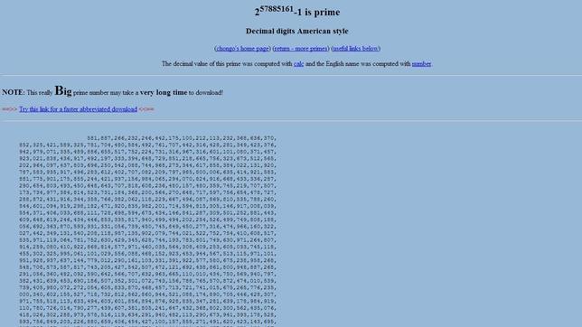Un matemático descubre el número primo más grande del mundo