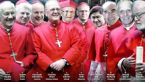 Los diez principales papables