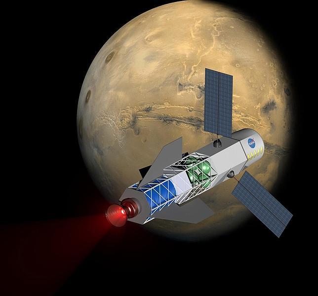 Planean enviar humanos a Marte en una nave propulsada por fusión nuclear
