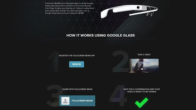 Google Glass recibe Beam, una aplicación para publicar vídeos en YouTube