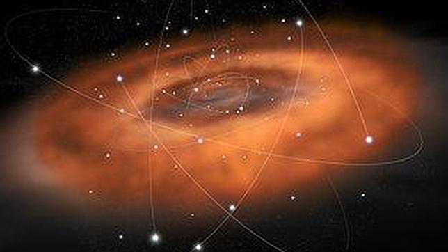 El gran agujero negro de nuestra galaxia devora una «cena» ardiente