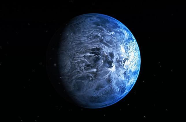 El Hubble encuentra un planeta azul celeste