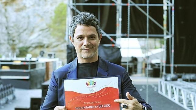 Alejandro Sanz, voluntario olimpico número 50.000