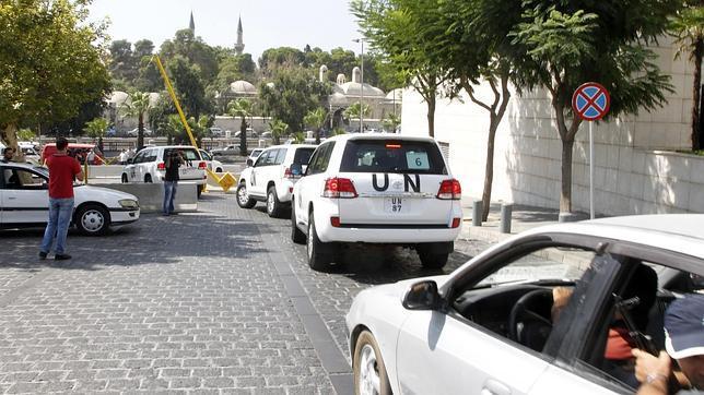 Atacado el convoy de los inspectores de la ONU en Siria