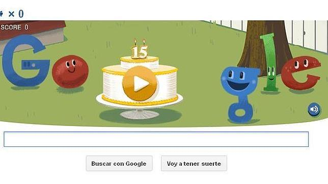 Resultado de imagen para Google celebra con doodle 2 años de vida y su dominio en la red