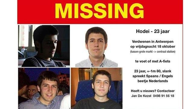 Desaparecido un joven vasco en Bélgica