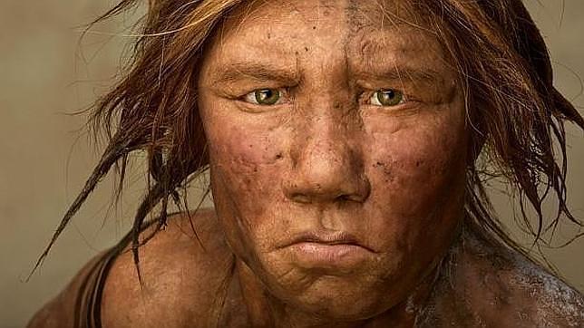 Una mujer Neanderthal.