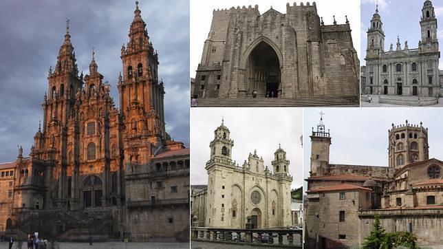Las cinco catedrales gallegas en 360 grados