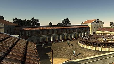 Reconstrucción virtual de una escuela de gladiadores