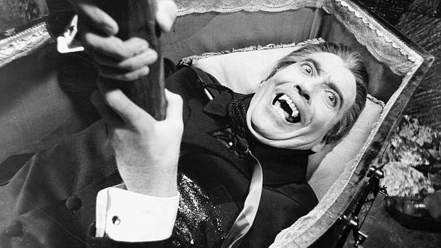 El Conde Drácula interpretado por Cristopher Lee