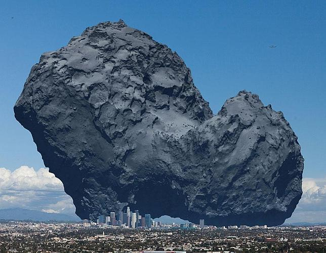 Así de grande es el cometa de la nave Rosetta