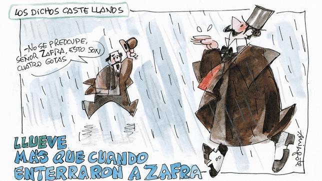 Zafra y la maldición de la lluvia