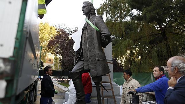 Blas de Lezo «aterriza» en la plaza de Colón de Madrid