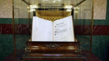 La cámara acorazada que protege el manuscrito original de la Constitución de 1978