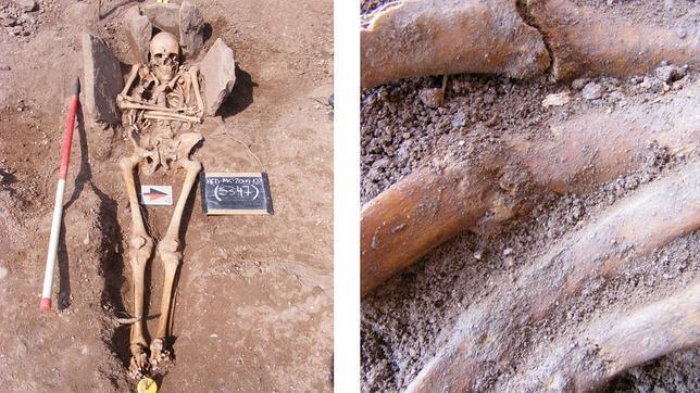 Excavan en Inglaterra el esqueleto «machacado» de un caballero medieval